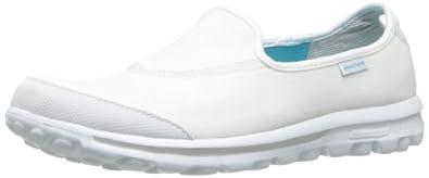 Skechers Women's Go Walk Slip-On,White,8 M US