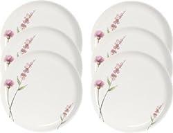 Servewell Pink Buds Desire Dinner Plate, 27cm, Set of 6