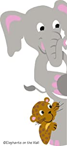 Elephants On The Wall D I Y Paint a Mural, Elephant and Leopard Doorhugger