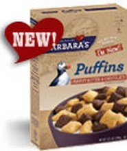 Barbara'S Bakery Puffins, Peanut Butter & Chocolate (6X10.5 Oz)