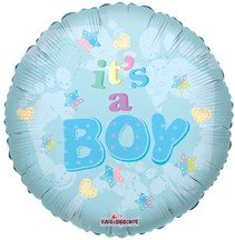 18 Inch Baby Boy Footprints Balloon