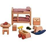 Small World Toys Ryan's Room Wooden Doll House - Dream on Children's Bedroom