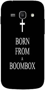 Snoogg Born From A Boombox Solid Snap On - Back Cover All Around Protection F...