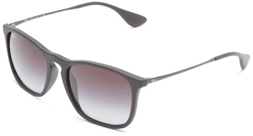 Ray-Ban Chris RB4187 Occhiali da sole Wayfarer, Unisex adulto, Nero (Schwarz), M