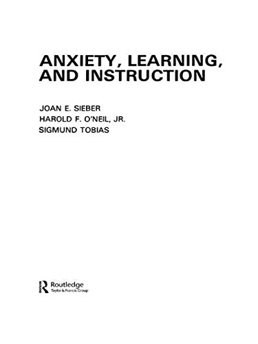Anxiety, Learning, and Instruction PDF