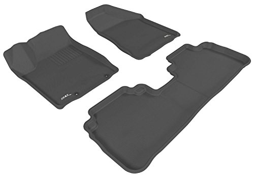 Kagu Rubber 3D MAXpider Cargo Custom Fit All-Weather Floor Mat for Select Mazda3 Models Gray