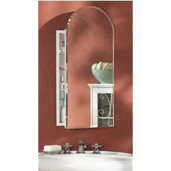 Jensen 52WH244PA Metro Arch Medicine Cabinet with Beveled Mirror, 15-Inch by 31-Inch