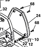 Screw (M6) for Qualcast Classic Petrol 35s/43s