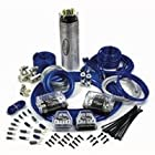Tsunami AMP48-CAP 4 Gauge Multi Amplifier Install Kit with 1.2 Farad Cap, 4 and 8 Gauge Wire-Blue