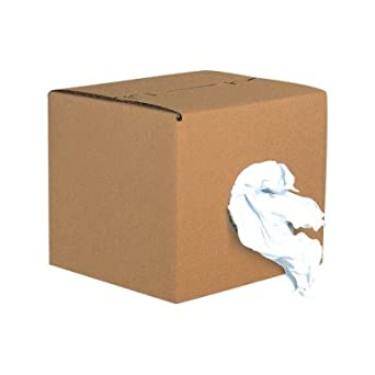 Aviditi Shipping Supplies BR102 Box of Rags Reclaimed Knit, 12 Height x 13 Length x 12 Width, White