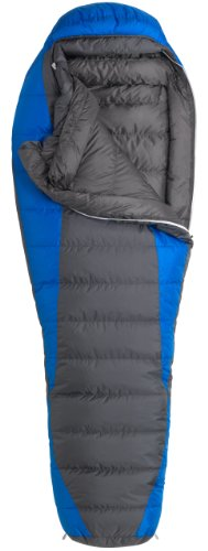 Marmot Sawtooth MemBrain Down Sleeping Bag, Regular-Left, Blue