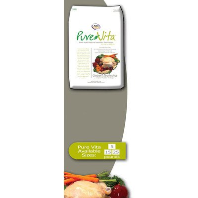 Pure Vita Dry Dog Food - Chicken & Brown Rice - 15 Lbs