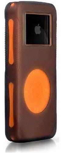 iSkin DUON-G1O1 Duo case for iPod? Nano - Carbon Blast. (Grey Outer, Orange Inner)