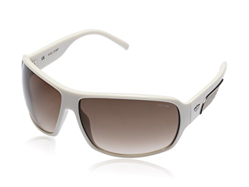 Police Police Rectangular Sunglasses (White) (S1717|3GF|72)