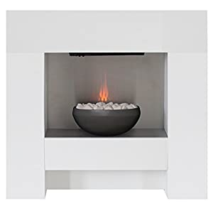 The Cubist Electric Fireplace Suite with Graphite Effect Bowl from Adam by Home Discount