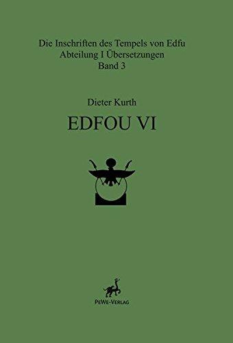 Edfou VI (Die Inschriften Des Tempels Von Edfu, Abteilung II Dokumentationen)  (Tapa Dura)