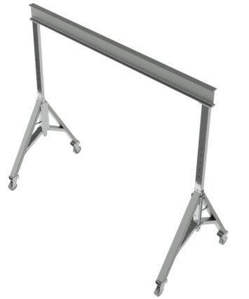 Wallace 3 Ton Steel Adj Gantry Crane 10' Span, 10'2