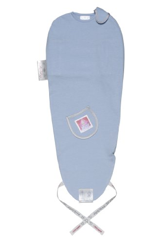 Puckababy The Original Piep Baby Swaddle Bag Sleep Sack 0-3 months Blue