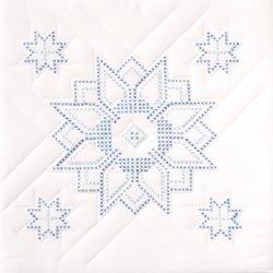 Jack Dempsey Stamped White Quilt Blocks - Star