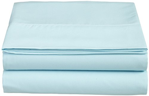 Check Out This Clara Clark Supreme 1800 Collection Single Flat Sheet - Queen Size, Light Blue Aqua