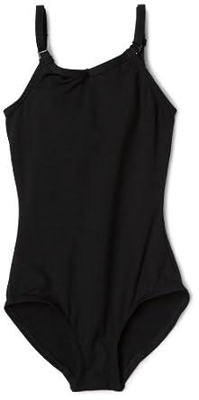 Capezio Big Girls' Camisole Leotard W/ Adjustable Straps,Black,M (8-10)