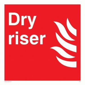 Dry riser - Fire Equipment Sign