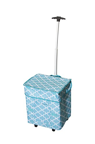 smart-cart-moroccan-tile-rolling-multipurpose-collapsible-basket-cart-scrapbooking