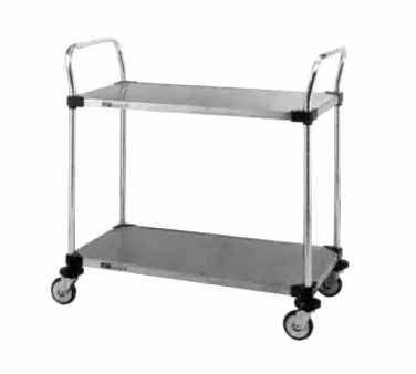 Metro MW Series Stainless Steel Utility Cart, 2 Shelves, 375 lbs Capacity, 30