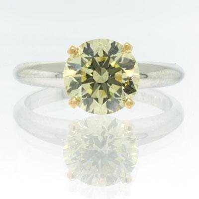 2.06ct Fancy Yellow Round Brilliant Cut Diamond