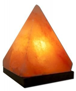 Himalayan Salt - Himalayan Crystal Salt Pyramid Salt Lamp By Aloha Bay - 6.5 In.