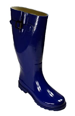 New Womens Rain Boots Size Wellies Flat Wellington Knee High Festival