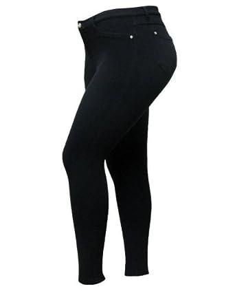 38ea576c8b 1826 MOLETON HIGH WAIST WOMENS PLUS SIZE SKINNY LEG Stretchy pants