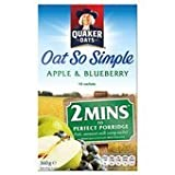 Quaker Oats Oat So Simple Apple & Blueberry Porridge 10 X 36G