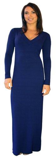 U ARe! Fashions Womens Long Dress Small Navy Blue