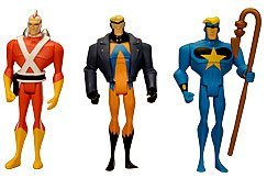 DC Universe Exclusive Justice League Unlimited Fan Collection Action Figure 3Pack Adam Strange, Animal Man Star Man