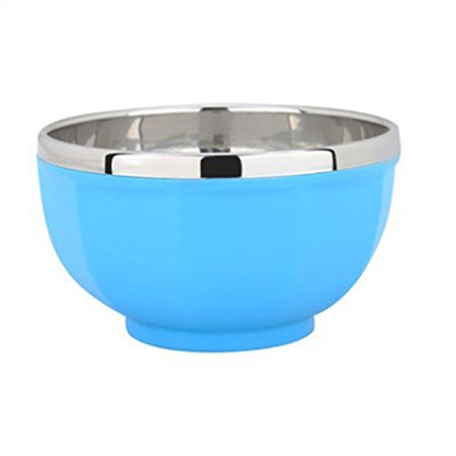 1 Pcs Peyan Cute Colorful Stainess Steel Heat Protection Double Layer Bowl Feeding Set for Kids, Toddlers, Baby (Stainless Steel Childrens Bowl compare prices)