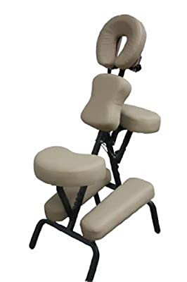 "Portable Massage Chair Comfort 4"" Thick Foam Light Weight Therabuilt Apex. With Free Carrying Bag*Cream*"