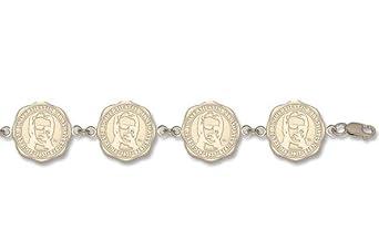 Marshall Thundering Herd Seal 7 5 8 Bracelet -14KT Gold Jewelry by Logo Art