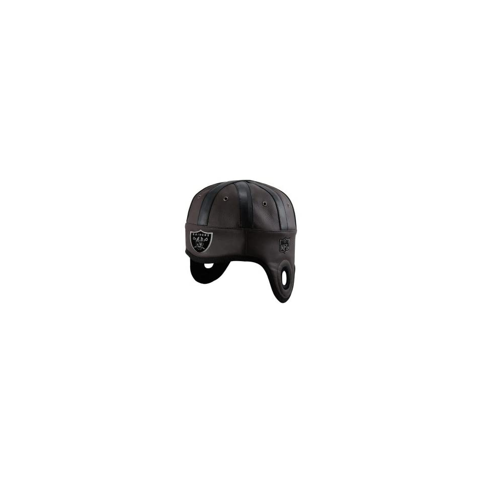 Raiders Faux Leather Helmet Head Cap by Reebok (0000000119474) Books ... 02a309187666