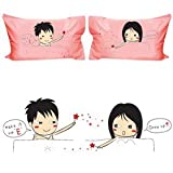 """NaughtyGifty """"Sexy Magic Spell"""" Funny Pillowcases--Romantic Valentines Gifts for Couples,Cute Valentines Day Gift Ideas,Good Couple Gifts for Valentines,Romantic Anniversary Gifts"""