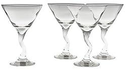 Libbey 4-Piece Z-Stem Martini Set