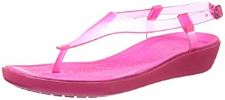 Crocs Womens Women's 14975 RLY Sexi T Strap Gladiator Sandal,Candy Pink/Candy Pink,9 M US