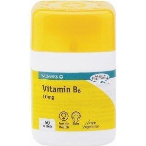 Numark nutritional supplements vitamin B6 capsules 60 pack