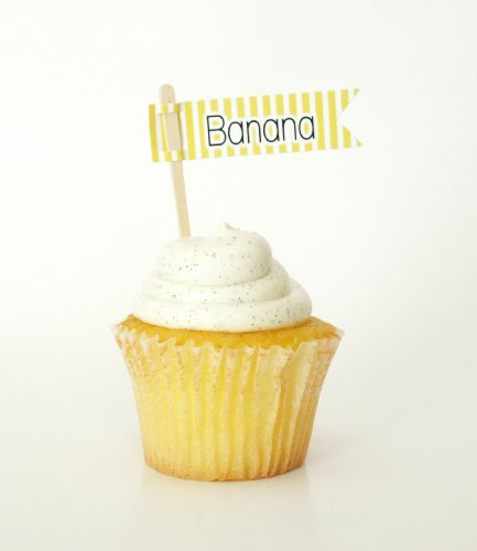 """Banana"" Dessert Toppers, Yellow (Set Of 12) - Identify Flavor Of Foods Like Breads, Malts, And Muffins front-720620"