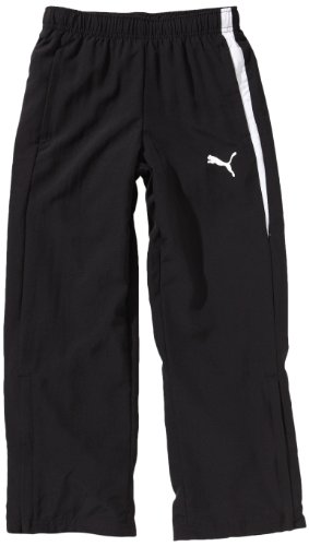 PUMA, Pantalone da presentazione Bambino Spirit Woven Pants, Nero (Black/white), 152 cm