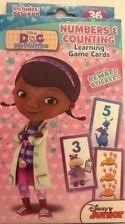 Doc mcstuffins numbers and counting flash cards with reward stickers - 1