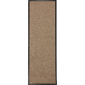 Washable Cotton Floor Runner Rug 180x60cm - Beige (112098866)