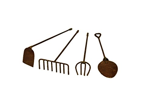 G-F-MiniGardenn-10024-Fairy-Garden-Miniature-Tools-Set-of-4-Rustic