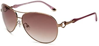 Juicy Couture Women's Beach Bum Aviator Sunglasses,Almond Frame/Brown Gradient Lens,One Size