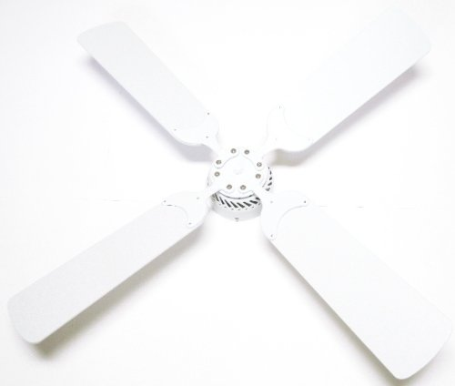 Global Electric 42-Inch Non-Brush Ceiling Fan For Rv, White Finish With Remote Control